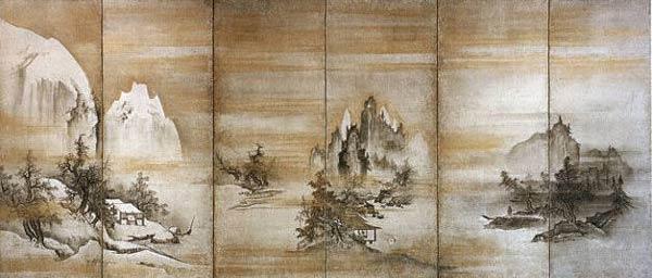 Ширма. Япония. Zosan. 15 век