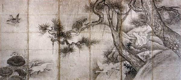 Ширма. Япония. Тойо Ода (Сэссю). 15 век.