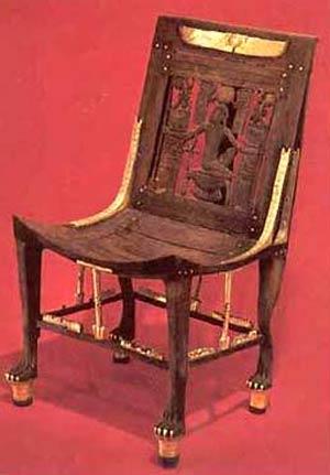 Мебель древнего Египта. Стул Тутанхамона