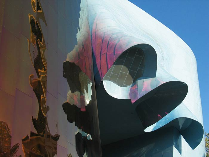 Фрэнк Гери (Frank Gehry): Experience Music Project («Опытный музыкальный проект»), Seattle, Washington, USA, 2000