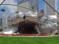 Фрэнк Гери (Frank Gehry): Jay Pritzker Pavilion, Millennium Park, Chicago, Illinois, USA, 2004