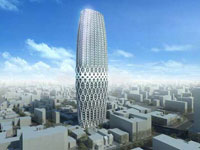 Заха Хадид (Zaha Hadid Architects): Dorobanti Tower, Bucharest, Romania (Отель и апартаменты Dorobanti Tower, Бухарест, Румыния), 2008—2013