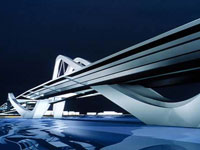 Заха Хадид (Zaha Hadid Architects): Sheikh Zayed Bridge, Abu Dhabi, UAE (Мост Шейха Зайеда, Абу-Даби, ОАЭ), 1997—
