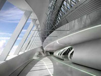 Заха Хадид (Zaha Hadid Architects): Zaragoza Bridge Pavilion, Zaragoza, Spain (Мост в Сарагоссе, Испания), 2005—2008