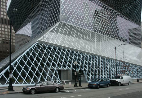 Рем Колхас (Rem Koolhaas)/ OMA: Seattle Public Library, Seattle, Washington, USA (Центральная библиотека, Сиэтл, США), 2004