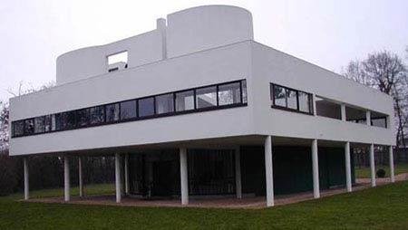 Ле Корбюзье. Le Corbusier. Вилла Савой (Villa Savoye),  Пуасси (Poissy-sur-Seine), Франция. 1929-1931