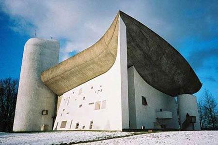 Ле Корбюзье. Le Corbusier. Chapelle Notre Dame du Haut, Роншан (Ronchamp), Франция. 1950-1954