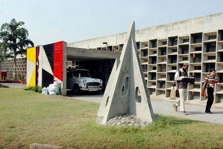 Ле Корбюзье. Le Corbusier. Колледж искусств (Government College of Arts(GCA). Чандигарх (Chandigarh) — новая столица штата Пенджаб, Индия. 1959