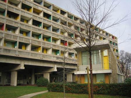 Ле Корбюзье. Le Corbusier. Maison du Brésil, Университетский городок, Париж. 1957
