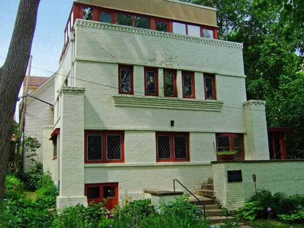 Фрэнк Ллойд Райт (Frank Lloyd Wright): Robert M. Lamp House, Madison, Wisconsin (Дом Роберта М. Лэмпа, Мэдисон, Висконсин), 1903