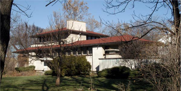 Органическая архитектура: Фрэнк Ллойд Райт (Frank Lloyd Wright): Ferdinand F. Tomek House (The Ship House), Riverside, Illinois (Дом Ф.Ф. Томека, Риверсайд, Иллинойс ), 1904—1906