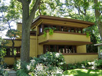 Фрэнк Ллойд Райт (Frank Lloyd Wright): Mrs. Thomas H. Gale House, Oak Park, Illinois (Дом миссис Томас Гейл, Оак-Парк, Иллинойс ), 1909