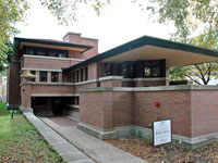 Фрэнк Ллойд Райт (Frank Lloyd Wright): Frederick C. Robie House, Chicago, Illinois (Дом Фредерика С. Роби, Чикаго, Иллинойс), 1908—1910