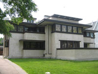 Фрэнк Ллойд Райт (Frank Lloyd Wright): Oscar B. Balch House, Oak Park, Illinois (Дом О.Б. Бэлха, Оак-Парк, Иллинойс ), 1911