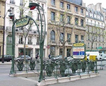 Входная группа парижского метро