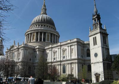 Собор Св. Павла (St Pauls Cathedral) на площади Ковент-Гарден (Covent Garden), архитектор Кристофер Рен(Christopher Wren)