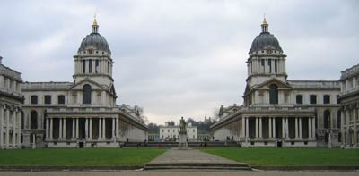 Greenwich Hospital. Архитектор Кристофер Рен(Christopher Wren)