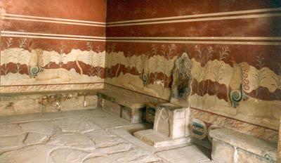 Тронный зал. Дворец в Кноссе. Крит