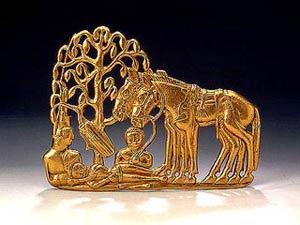 Элемент скифо-сакской поясной пряжки. Сибирская коллекция Петра I