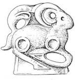 Изображение травоядного с поджатыми ногами. Могильник Памирская I, V век до н.э.
