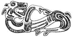 Полифонический образ животного, состоящий из хищника и травоядного. Чечня, IV век до н.э.