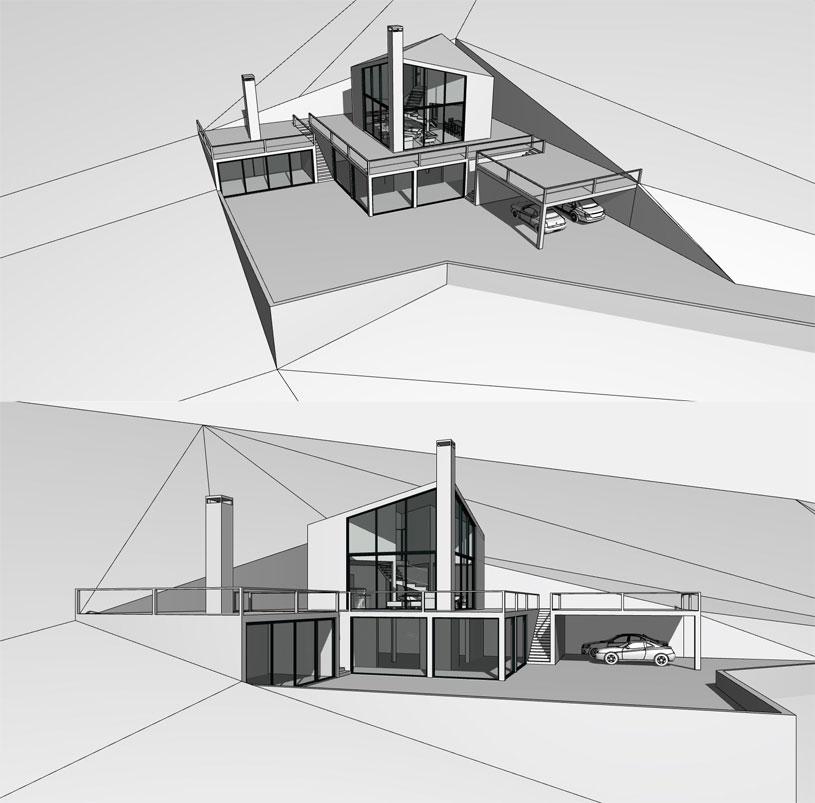 Концепция одноквартирного жилого дома в Горном Алтае (с. Чарышское). Архитектор: Сергей Косинов