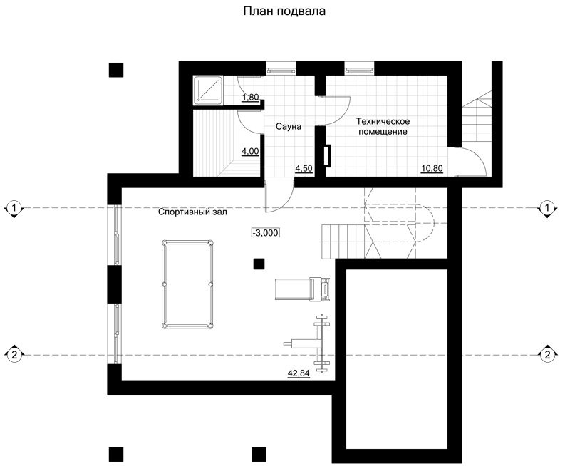 план подвала частного дома
