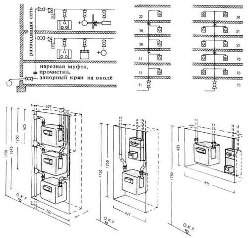 Схема газовой сети в