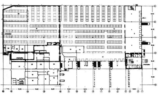 План 1-го этажа мясокомбината.