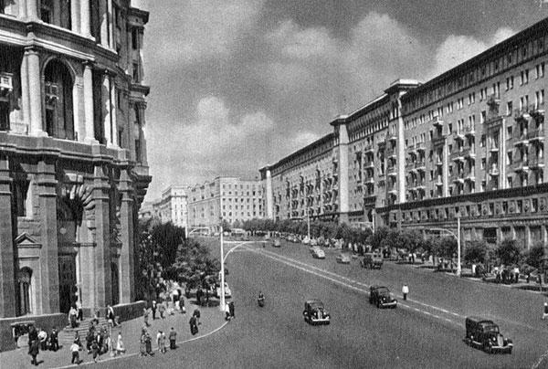 Москва жилые дома по улице горького