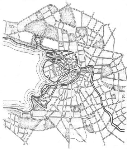 Ленинград. Схема планировки