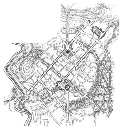 Схема планировки города,