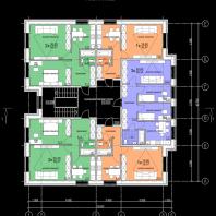 Эскизный проект двухэтажного десятиквартирного жилого дома. Архитектор: Сергей Косинов
