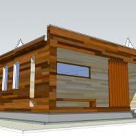 Проект одноквартирного дома для молодой семьи. АФ-студия, Новосибирск. Архитектор: Антонов Дмитрий