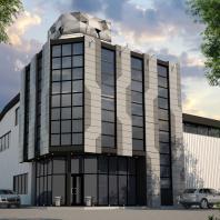 Проект производственно-складского корпуса. Проектная мастерская АПМ-Сайт. Новосибирск. 2017 г.