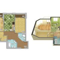 Жилой комплекс «Шесть Звезд» по ул. Аникина в Новосибирске. 3-комнатная квартира