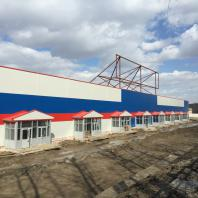 Строительство торгового центра «Восток» в Дзержинском районе г. Новосибирска. Проектная организация: «АкадемСтрой». Руководитель проекта: Турецкий Б.М. 2015 г.