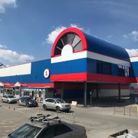 Здание торгового центра «Восток» в Дзержинском районе г. Новосибирска. 2018 г.