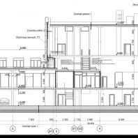 Проект здания магазина смешанных товаров с подземной автостоянкой по ул. Новосибирская. Проектная организация: «АкадемСтрой»