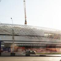 Строительство торгово-развлекательного центра «Европейский». Новосибирск. 2017 г.