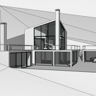 Концепция жилого дома в Горном Алтае (с. Чарышское). Архитектор: Сергей Косинов