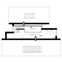 Эскизный проект индивидуального жилого дома с баней и гаражом. План 3 этажа (антресоль). Архитектор: Сергей Косинов. Новосибирск