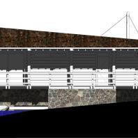 Проект банного комплекса «Ангара». Фасад. Архитектор: Сергей Косинов. Новосибирск. 2015 г.