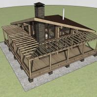 Проект банного комплекса «Байкал». Архитектор: Сергей Косинов. Новосибирск
