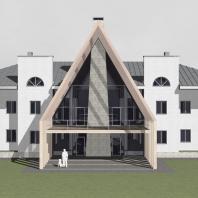 Концепция реконструкции коттеджа. Архитектор: Сергей Косинов. Новосибирск
