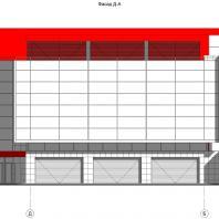 Концептуальный проект общественного здания «RED WALL». Архитектор: Сергей Косинов. Новосибирск