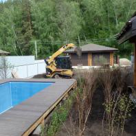Строительство бани «Красный Яр». Благоустройство территории. Новосибирск