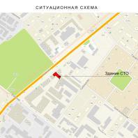 Проект СТО по ул. Никитина в Новосибирске. Ситуационный план. Архитектор Сергей Косинов