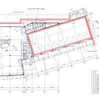 Проект СТО по ул. Никитина в Новосибирске. План 1-го этажа. Архитектор Сергей Косинов