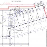 Проект СТО по ул. Никитина в Новосибирске. План 2-го этажа. Архитектор Сергей Косинов